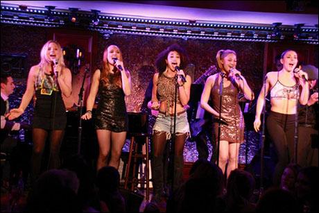 "Tess Soltau, Sabrina Harper, Gabrielle McClinton, Steffanie Leigh, and Synthia Link perform ""Spice Up Your Life"""