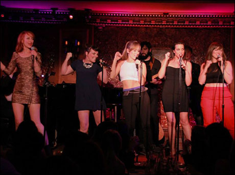 "Lesley McKinnell, Natalie Daradich, Stephanie Torns, Jenna Leigh Green, and Stefanie Brown perform ""Do It"""