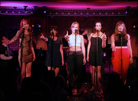 "Lesley McKinnell, Natalie Daradich, Stephanie Torns, Jenna Leigh Green, and Stefanie Brown perform ""2 Become 1"""