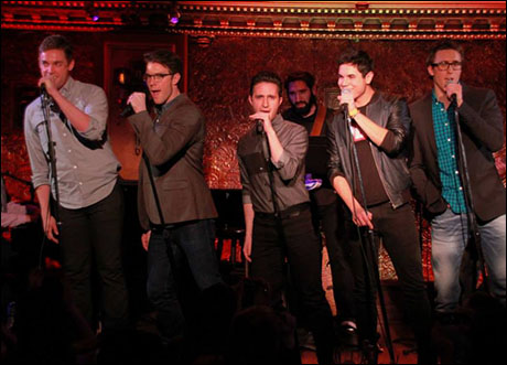 "Nic Rouleau, Billy Tighe, Russell Fischer, Jason Gotay, and Darren Bluestone perform ""Say You'll Be There"""