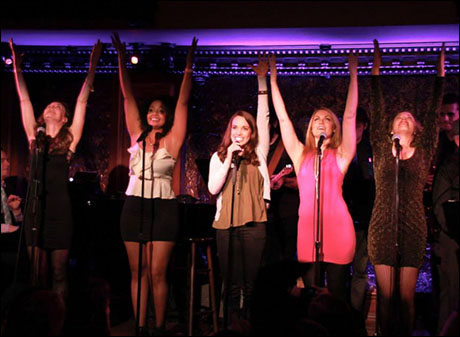 "Liana Hunt, Stephanie Umoh, Kara Lindsay, Ashley Kate Adams, and Caitlyn Caughell perform ""Stop"""
