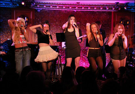"Ariana Groover, Alice Lee, Barrett Wilbert Weed, Elizabeth Judd, and Emma Hunton perform ""Wannabe"""