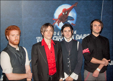 The band Carney: Aiden Moore, Reeve Carney, Zane Carney and Jon Epcar