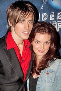 <i>Spider-Man</i> stars Reeve Carney and Jennifer Damiano