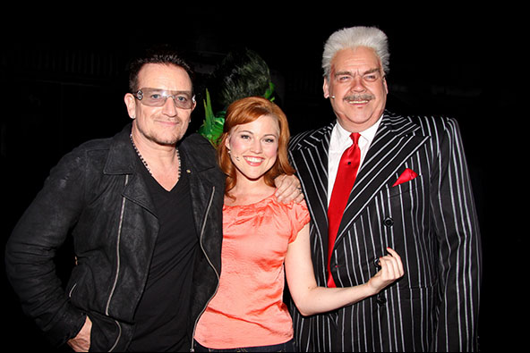 Bono, Rebecca Faulkenberry and Michael Mulheren