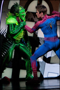 Patrick Page and Reeve Carney in <i>Spider-Man Turn Off the Dark.</i>