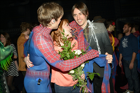 Justin Matthew Sargent, Rebecca Faulkenberry and Reeve Carney