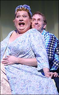 Jay Brazeau (left) and Tom Rooney in <I>Hairspray</I>