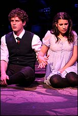 Jonathan Groff and Lea Michele in the Atlantic Production of <I>Spring Awakening</I>.
