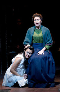 Aja Wiltshire and Vanessa Greenway in the Griffin Theatre Company's <i>Spring Awakening</i>