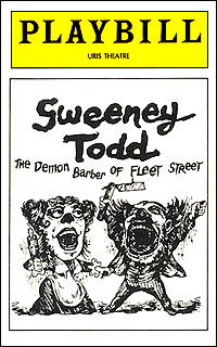 Playbill cover for <I>Sweeney Todd</I> in 1979.