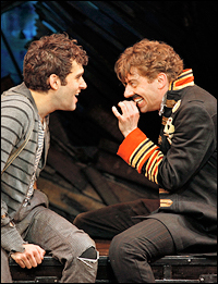 Adam Chanler-Berat and Christian Borle in the Off-Broadway production