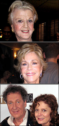Angela Lansbury, Jane Fonda and Geoffrey Rush with Susan Sarandon