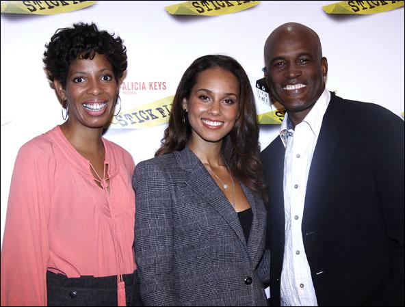 Lydia R. Diamond, Alicia Keys and Kenny Leon