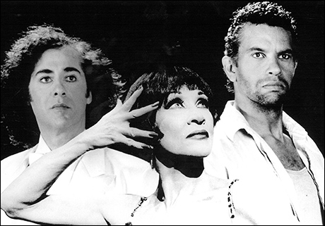 Jeff Hyslop, Chita Rivera and Brian Stokes Mitchell in Kiss of the Spider Woman