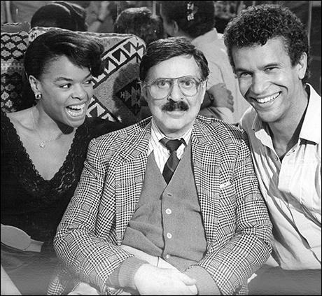 Angela Teek and Brian Stokes Mitchell with Oh, Kay! producer David Merrick