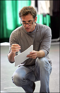 Malcolm Gets in rehearsal for Goodspeed Musicals' October run of <I>The Story of My Life.</I>