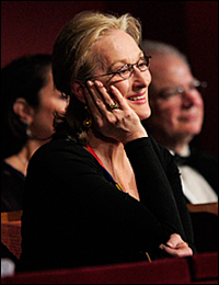 Meryl Streep at the Kennedy Center Honors in 2011.