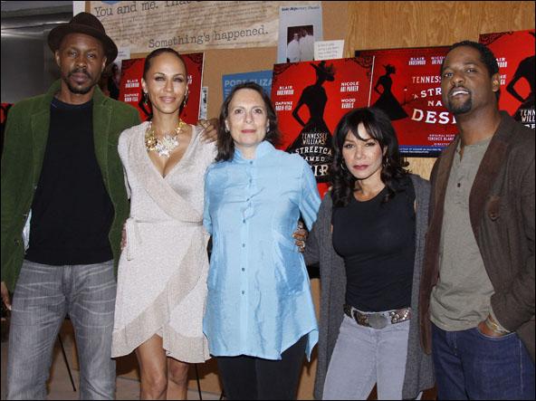 Wood Harris, Nicole Ari Parker, Emily Mann, Daphne Rubin-Vega and Blair Underwood