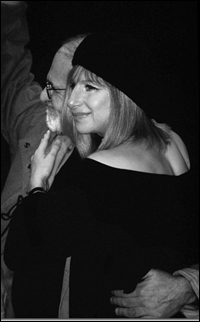 Larry Kramer and Barbra Streisand at curtain call for the 1993 <i>Normal Heart</i> reading