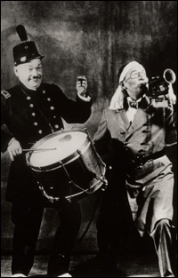 Bobby Clark and Paul McCullough in George and Ira Gershwin's <i>Strike Up the Band</i> at the Times Square Theater.