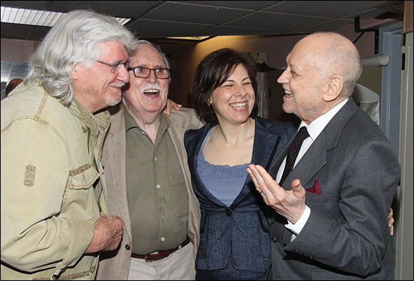 Martin Charnin, Thomas Meehan, Arielle Tepper Madover and Charles Strouse