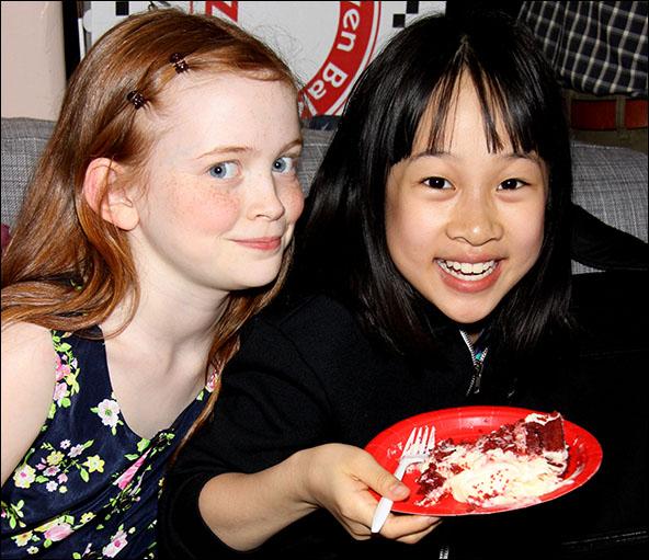 Sadie Sink and Junah Jang