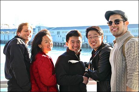Group Shot on the Alcatraz Island Ferry.
