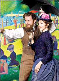 Jason Danieley and Carmen Cusack in <i>Sunday in the Park With George</i>
