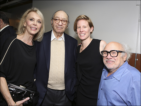 Elaine Joyce, Neil Simon, Thea Sharrock and Danny DeVito