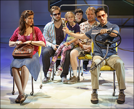 Stephanie J. Block and Will Swenson with Rory O'Malley, Hannah Rose Nordberg, Logan Rowland and David Rasche