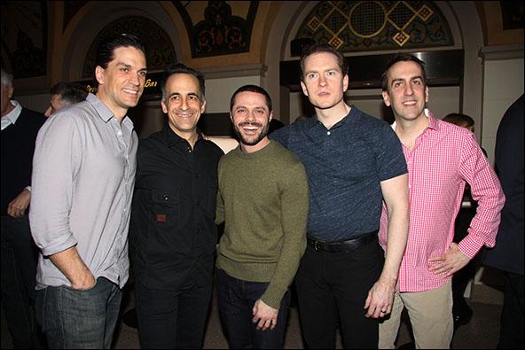 Will Swenson, David Pittu, Joshua Bergasse, Adam Monley and Rob Berman