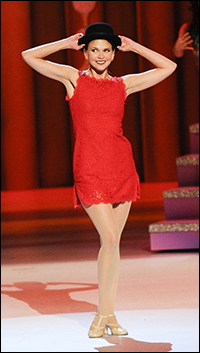 Sutton Foster performs at the ceremony