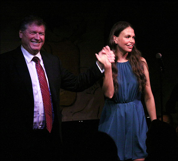 Michael Rafter and Sutton Foster