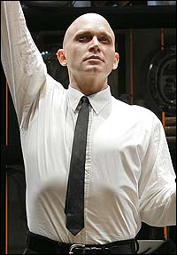 Michael Cerveris in <I>Sweeney Todd</I>.