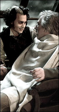 Johnny Depp and Alan Rickman in