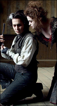 Johnny Depp and Helena Bonham Carter in