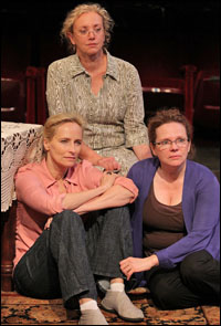 Laila Robins, J. Smith-Cameron and Maryann Plunkett in <i>Sweet and Sad</i>.