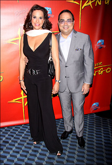 Alexandra Malagon and Gilberto Santa Rosa