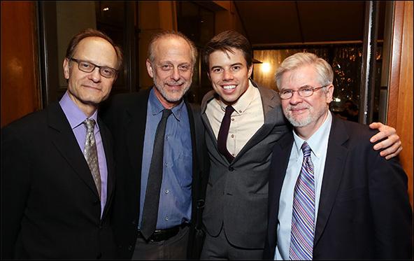 David Hyde Pierce, Mark Blum, David Hull and Christopher Durang