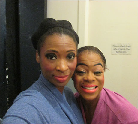 Whew  - Intermission.. Nikki and I backstage