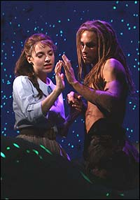 Jenn Gambatese and Josh Strickland in <I>Tarzan</I>.