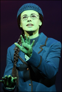 Teal Wicks in <i>Wicked</i>.
