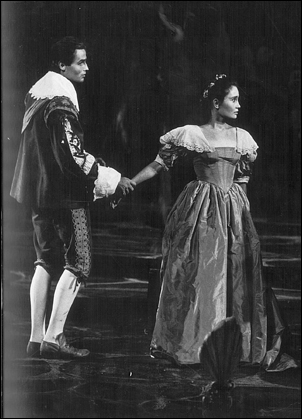 Richard Jordan and Kathleen Widdoes in The Tempest, 1962