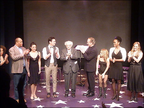 Sheldon Harnick and cast