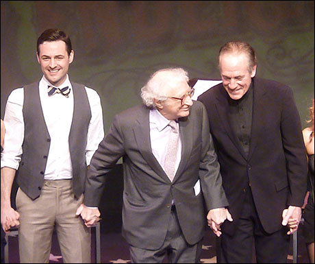 Max Von Essen, Sheldon Harnick and Mark Jacoby