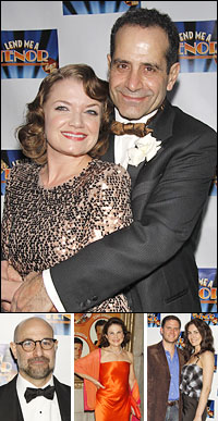 Mary Catherine Garrison and Tony Shalhoub; director Stanley Tucci, guests Tovah Feldshuh, Steven Pasquale and Laura Benanti