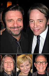 Nathan Lane and <I>The Philanthropist</I> star Matthew Broderick; playwright Christopher Hampton and guests Martha Plimpton and Ron Rifkin