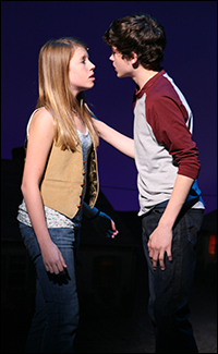 Allie Trimm and Graham Phillips in the Broadway production