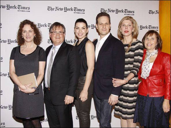 Patricia Cohen, Robert King, Julianna Margulies, Josh Charles, Christine Baranski and Michelle King